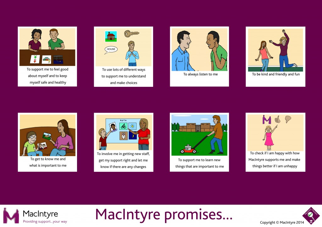 A graphic presenting MacIntyre's promises to people that we support